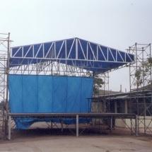 87849Palco 8x8m azul